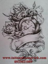 hình xăm đồng hồ   18