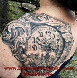 hình xăm đồng hồ   21
