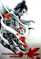 hình xăm samurai