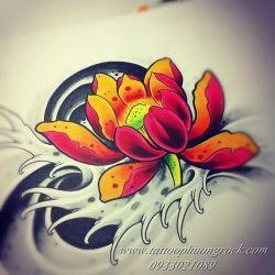 hình xăm hoa sen 5