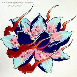 hình xăm hoa sen 16
