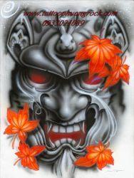 hình xăm quỷ Hanya 3