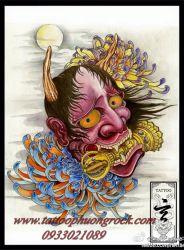 hình xăm quỷ Hanya 11