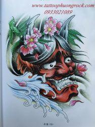 hình xăm quỷ Hanya 51