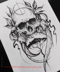 Hinh xam skull 12