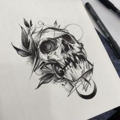 Hinh xam skull 4