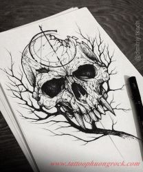 Hinh xam skull 11