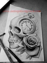 Hinh xam skull 15