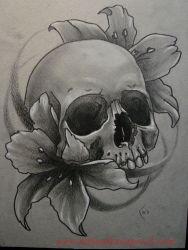 Hinh xam skull 13