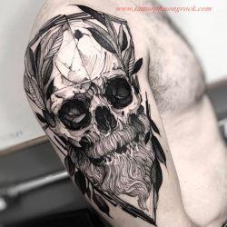 Hinh xam skull 14