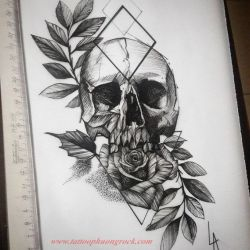 Hinh xam skull 18