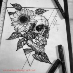 Hinh xam skull 16