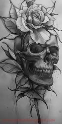 Hinh xam skull 17