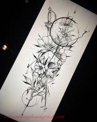 Hinh xam skull 5