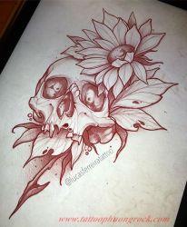 Hinh xam skull 2
