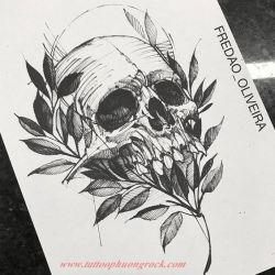 Hinh xam skull 19