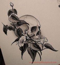 Hinh xam skull 20