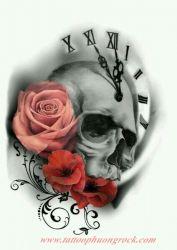 Hinh xam skull 21