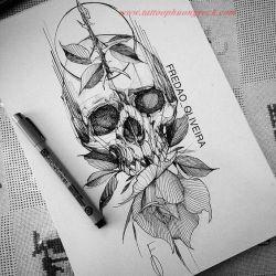 Hinh xam skull 22