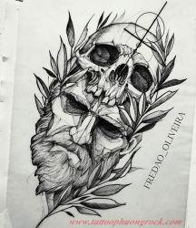 Hinh xam skull  30