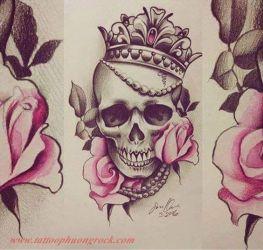 Hinh xam skull 27