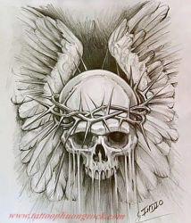 Hinh xam skull 29