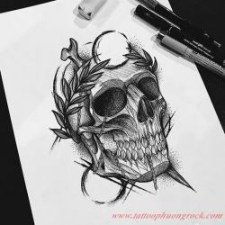 Hinh xam skull 34