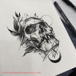 Hinh xam skull 32