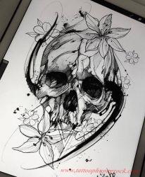 Hinh xam skull 23