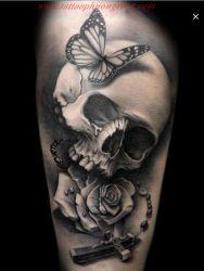 Hinh xam skull 33