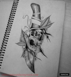 Hinh xam skull 24