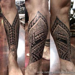 hình xăm maori dưới chân 1