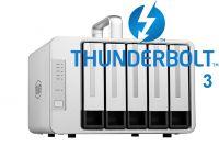 DAS TerraMaster D5-Thunderbolt 3, 40Gbps, 1035MB/s, 5 khay ổ cứng, 80TB