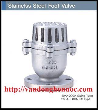 Rọ bơm (van hút, foot valve) Inox PN10/PN16/10K/16K/20K/ANSI kích cỡ D40, 40A