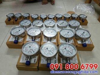 Đồng hồ áp suất chân không mặt 160mm G1/2″, NPT 1/2″, G1/4″, NPT 1/4″, M20, M27