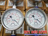 Đồng hồ áp suất dầu mặt D50mm