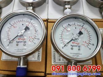 Đồng hồ áp suất dầu mặt D60mm