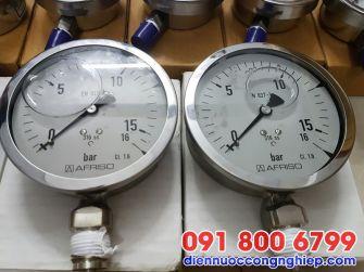 Đồng hồ áp suất dầu mặt D100mm