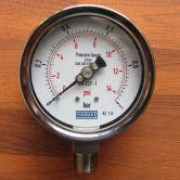 Đồng hồ đo áp suất chân không (áp âm) YAMAKI -1 - 0 bar, mặt phi 63