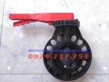 Van bướm nhựa PVC tay gạt DN80
