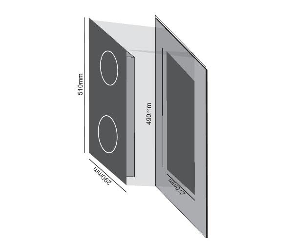 Bếp điện từ Domino CivinA CV-636 cùng với mặt Kính Cerimic siêu bền