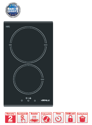 Bếp từ 2 vùng nấu Hafele 536.01.670
