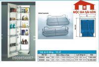 Kệ inox tủ đồ khô 12 rổ - 202003