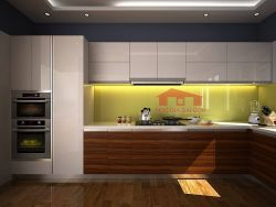 Tủ bếp MFC kết hợp Acrylic