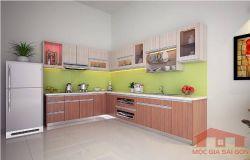 Tủ bếp MFC vân gỗ sồi