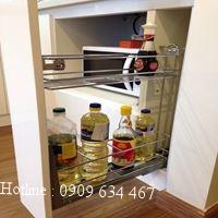 Kệ đựng gia vị inox EG.150 - Phụ kiện tủ bếp EUROGOLD