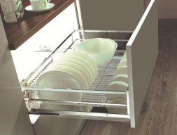Giá xoong nồi, bát đĩa inox EP80 - phụ kiện tủ bếp eurogold