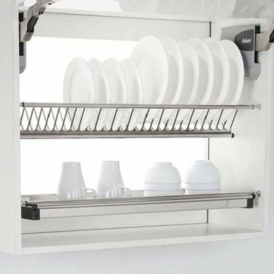Khay chén đĩa tủ trên inox 304  EP.160 - Phụ kiện tủ bếp Eurogold