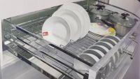 Giá xoong nồi , bát đĩa đa năng inox bóng ES61270 - Phụ kiện tủ bếp