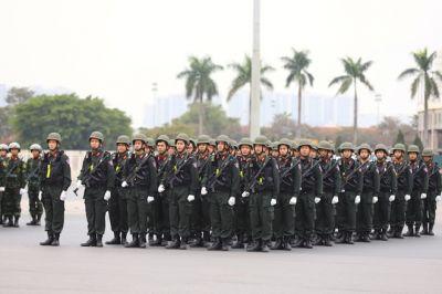 Xuất quân diễn tập phương án bảo vệ Đại hội đại biểu toàn quốc lần thứ XIII của Đảng